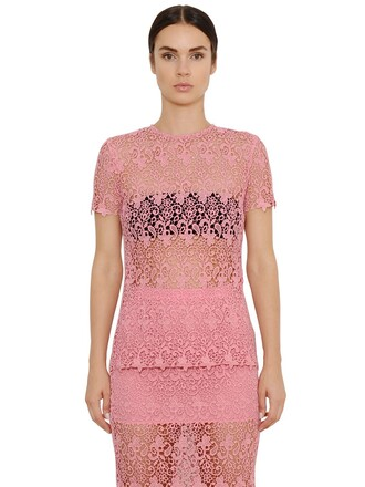 top lace top lace pink