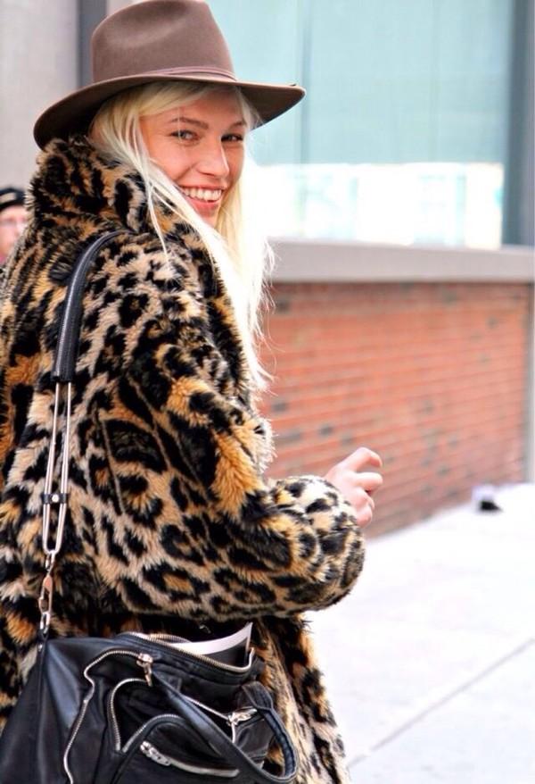 coat leopard print coat