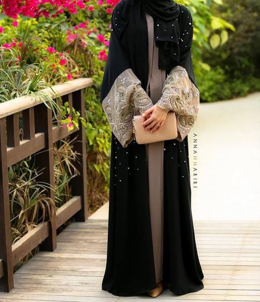 cardigan abaya black cardigan beaded