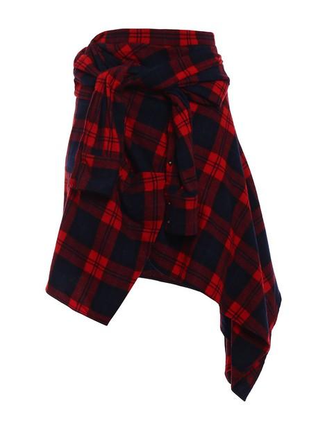 Dsquared2 skirt wool tartan