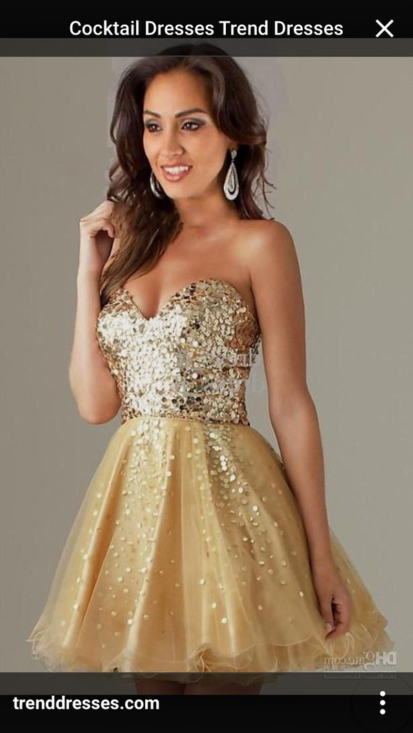 shortdress #shortpromdress #golddress #cocktail | Prom Dresses ...