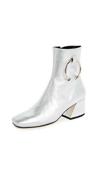 booties silver shoes