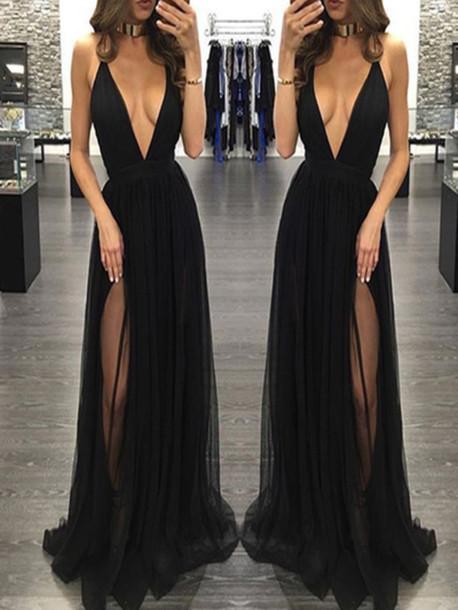 dress long prom dress prom dress black prom dress
