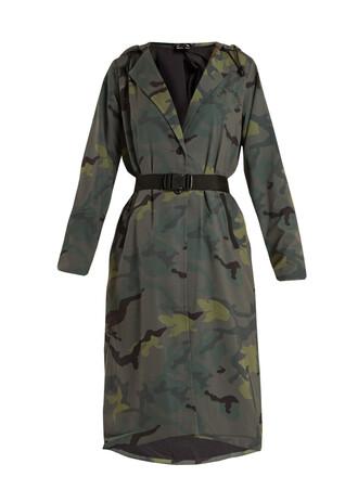 jacket hooded jacket camouflage print khaki
