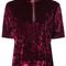 Marc jacobs - zip front top - women - polyester/spandex/elastane - 8, pink/purple, polyester/spandex/elastane