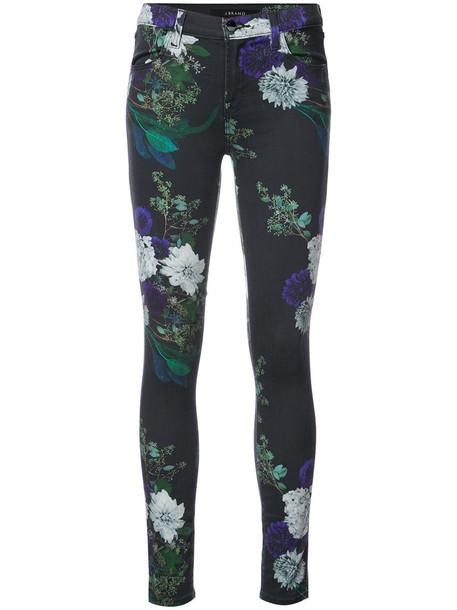 J BRAND jeans skinny jeans women spandex floral cotton black