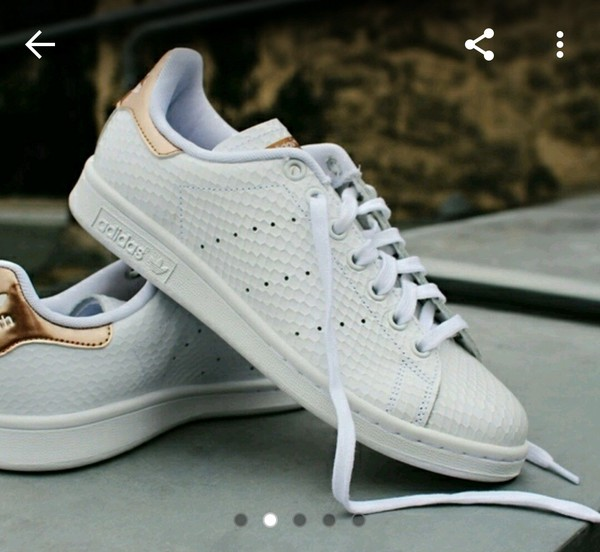 adidas white stan smith women gold