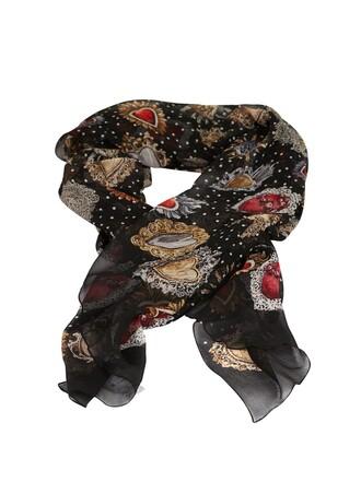 printed scarf heart scarf multicolor