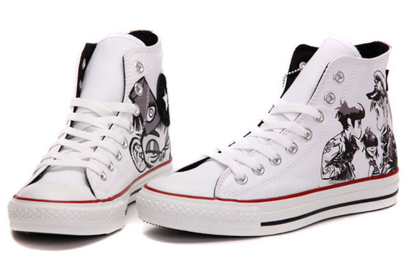 gorillaz converse high top black and white design feel good shoes