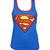 Official Ladies Blue Superman Classic Logo Vest | eBay
