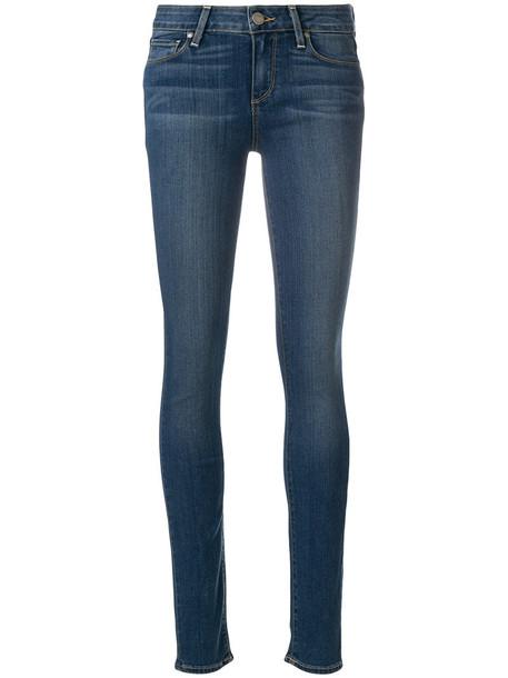Paige jeans skinny jeans women spandex cotton blue