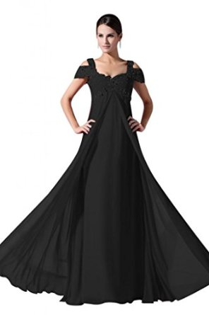Line chiffon beaded prom evening gown at amazon women's clothing store: