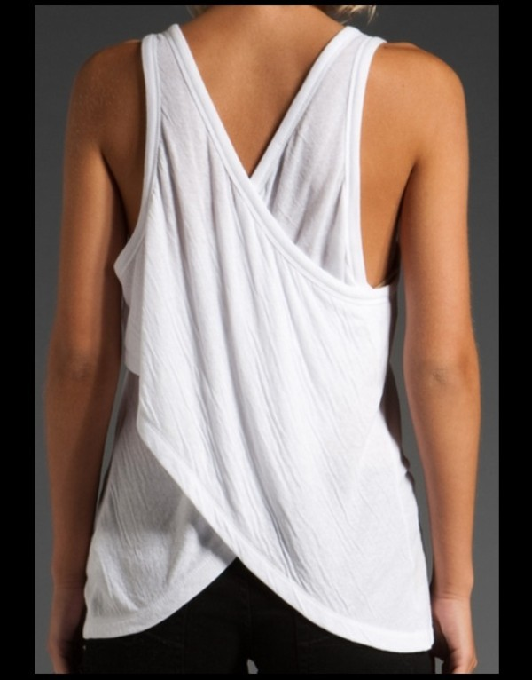 Tank top: sell, alexander wang, cross, criss, anyone selling, selling,  clothes, white, black and white, t by alexander wang - Wheretoget