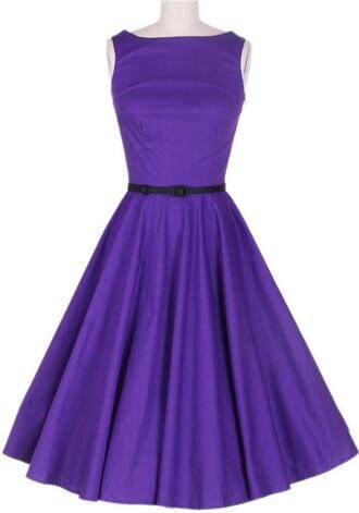 50s style pin up rockabilly dress rockabilly vintage dress party dress audrey hepbnur purple dress dress
