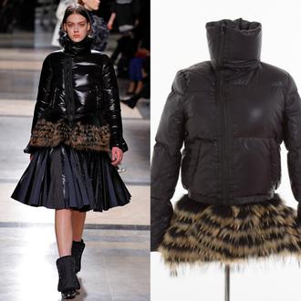 jacket i4out down jacket puffer jacket faux fur jacket clothes streetwear look lookbook streetstyle hemline
