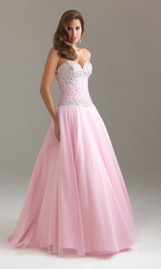 dress light pink jovani prom dress