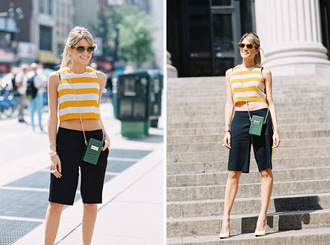 vanessa jackman blogger black shorts stripes