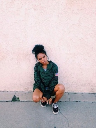 jacket american flag green jacket streetwear streetstyle vintage london zhiloh londonzhiloh camo black girls killin it green
