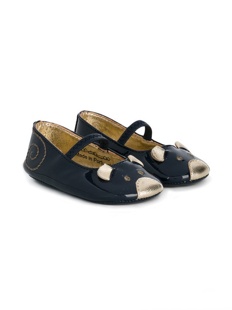 Little Marc Jacobs leather blue shoes