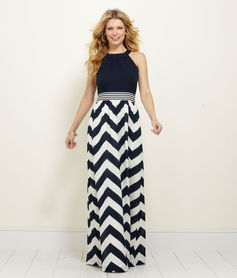 Women's Dresses: Chevron Maxi Dress – Vineyard Vines