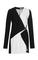 Bonded crepe colorblocked dress
