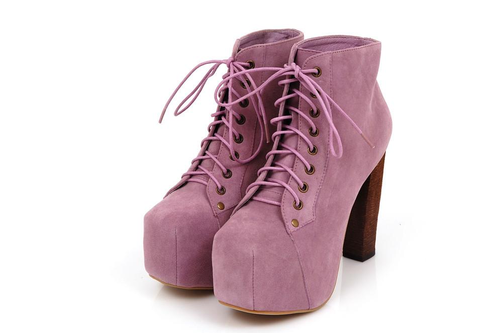Jeffrey campbell classic lita suede leather lavender 12 5cm heel