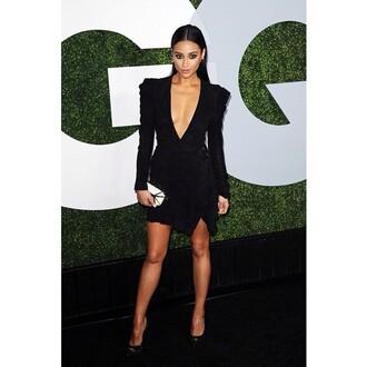 dress sleek low cut v neck party outfits black dress