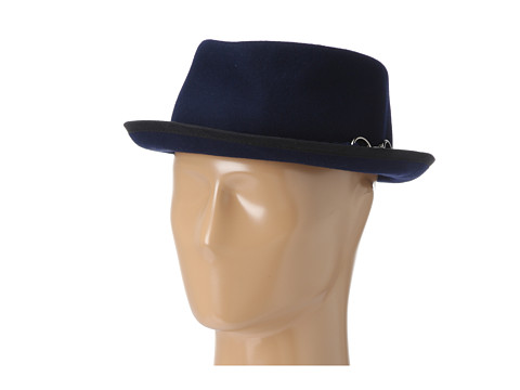 San Diego Hat Company CHA6422 Buckle Felt Porkpie Navy - Zappos.com Free Shipping BOTH Ways