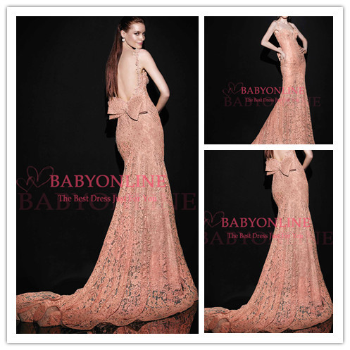 Aliexpress.com : Buy New Arrival Sexy One Single Long Sleeve Mermaid Evening Dresses 2014 See Through Tulle Lace Appliques Beaded Evening Party Gown from Reliable gown shop suppliers on Suzhou Babyonlinedress Co.,Ltd