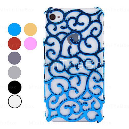 nieuwigheid bloem rotan huid Hard Case voor iPhone 4 en 4s (assorti kleuren) - USD $ 5.99