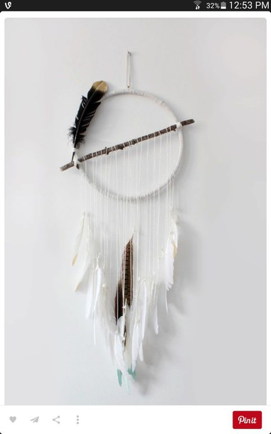 Home accessory dreamcatcher feathers boho hipster