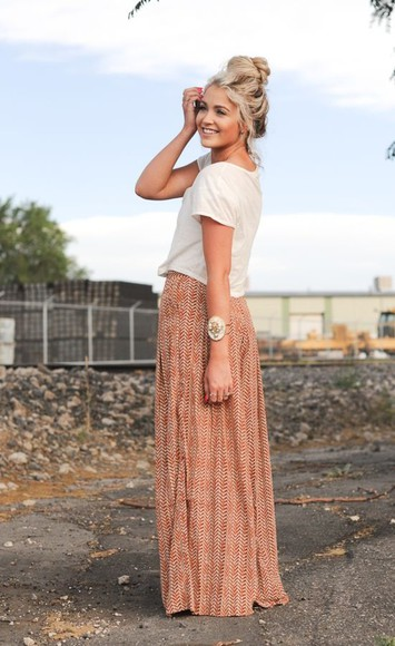 maxi skirt tribal