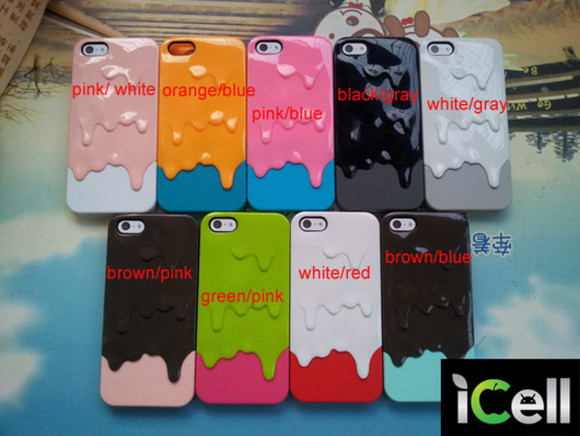 pink phone case iphone iphone case white orange blue black green red Gray