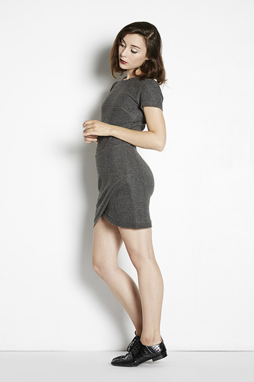 Adela Mei | Short Sleeve Wrap Mini | Shades of Grey by Micah Cohen | Adela Mei