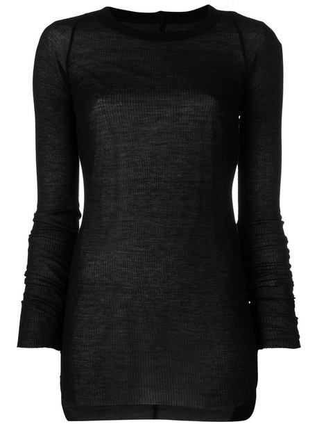 Rick Owens top sheer top sheer women black silk