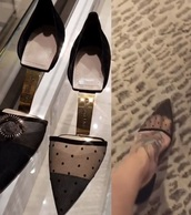 shoes,black,gold,high heels,dior