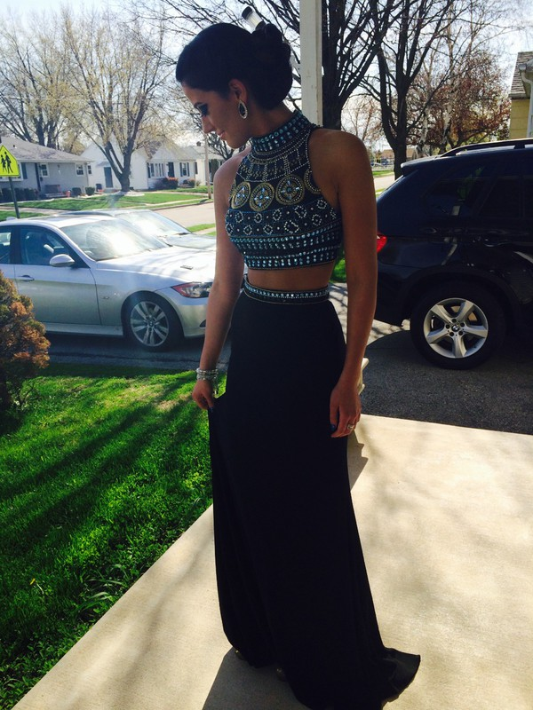 prom dress dress skirt top black sparkle sherri hill