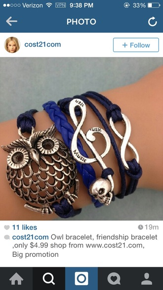 jewels bracelets owl