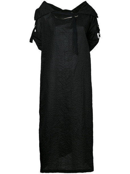 dress oversized women cotton black