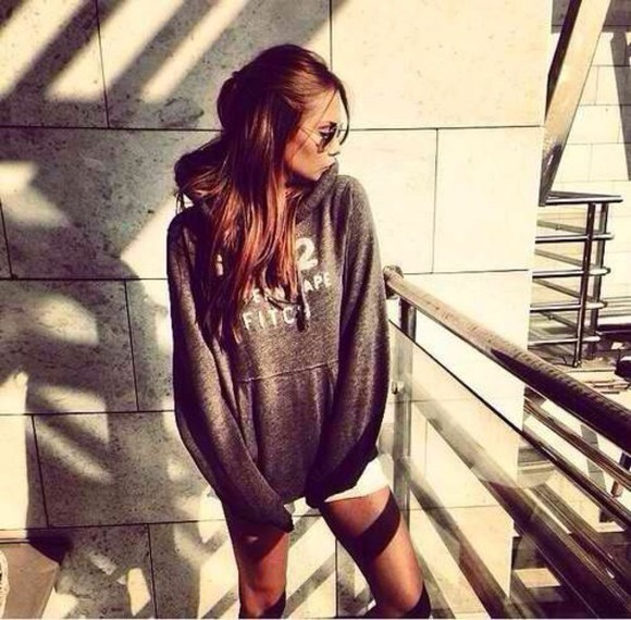 homecoming dress sweater grey lazy day winter sweater winter outfits outfit fashion cut offs cute sweaters grey sweatshirt cotton swag sweatpants style sun sweet