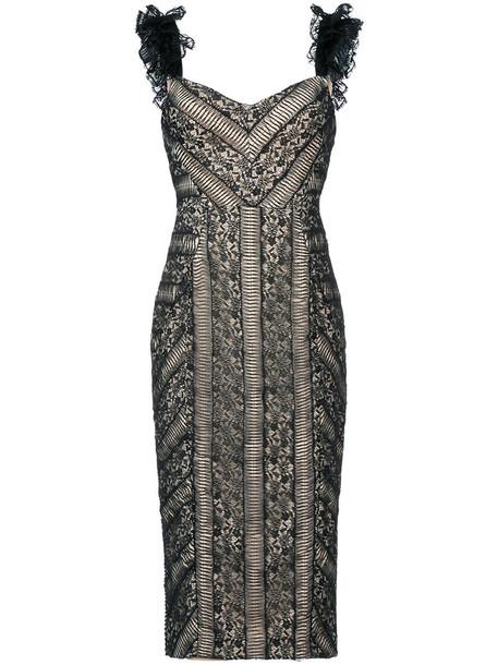 Rebecca Vallance dress ruffle dress ruffle women lace black