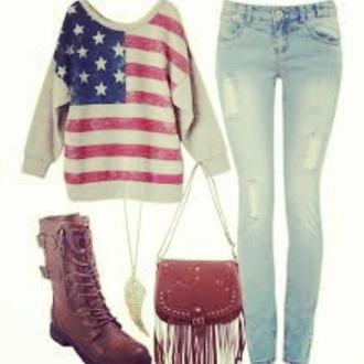 jeans top bag