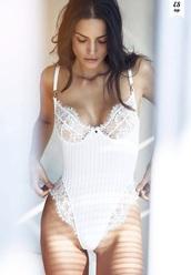 white,bodysuit,lace,lingerie,underwear