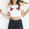 Good heart white crop top