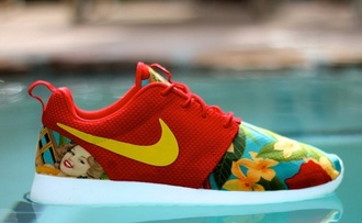 shoes nike roshe run roshe runs nike running shoes nike floral fashion flowers