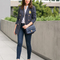 Day to night a pinstripe blazer and jeans sydne style