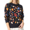 Whistles embroidered flower sweatshirt - navy