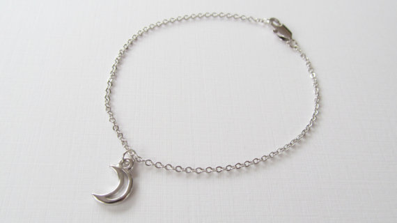 Sale 10  silver moon bracelet silver bracelet gift for by shopdal