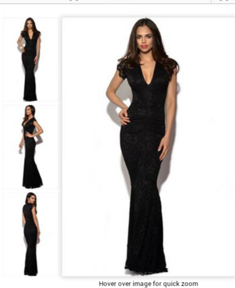 dress fishtail mermaid black lace vneck lace dress net evening gown
