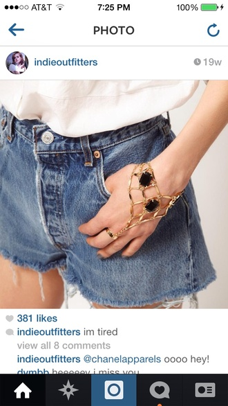 jewels jewelry hand chain chain sparkle gold dope hipster indie miley cyrus cool tumblr